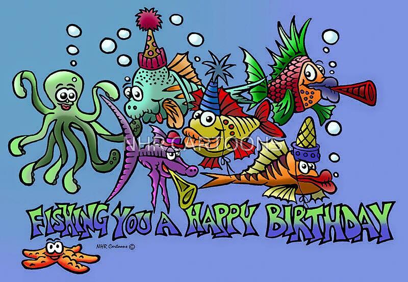 Happy birthday pedro blue xt sea diving for Fishing birthday wishes